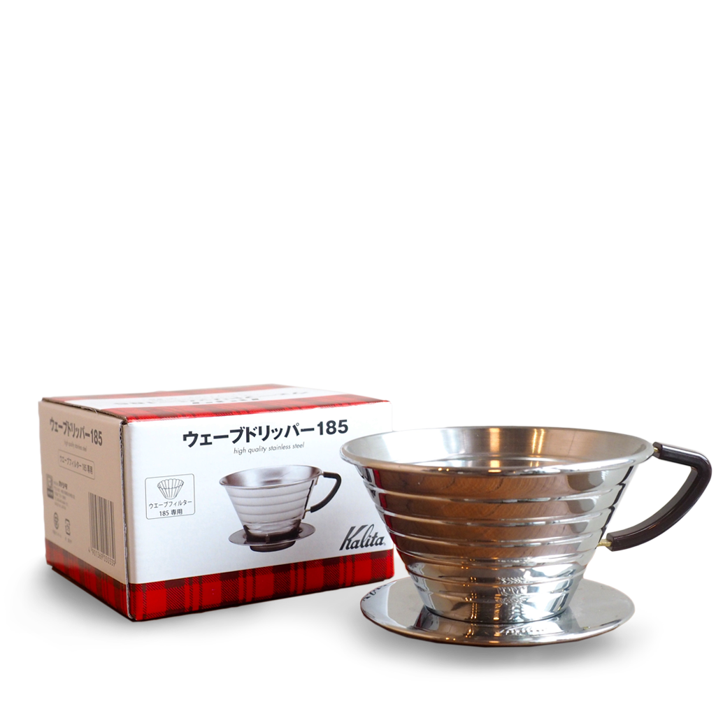 Kalita Wave Stainless Dripper #185 - Coffee Brewer - Olympia Coffee Roasting Company