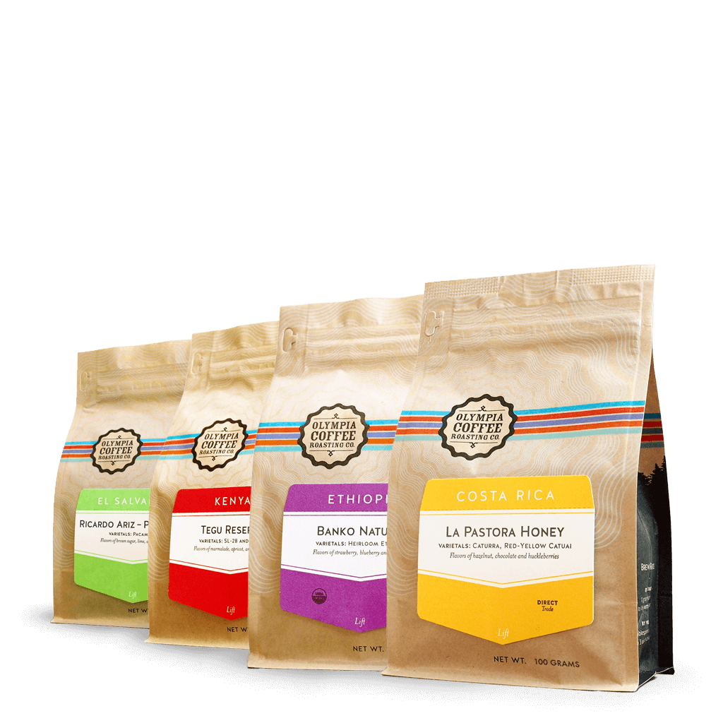 Sampler Pack of Four Single Origin Coffees