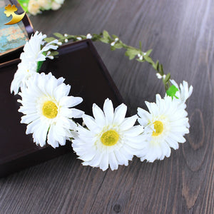 Handmade Garlands Daisy Halo Wreath