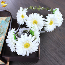 Load image into Gallery viewer, Handmade Garlands Daisy Halo Wreath