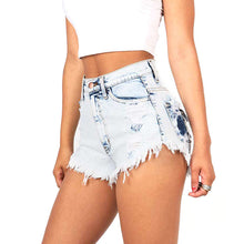 Load image into Gallery viewer, Our  High Waist Distressed Denim Shorts