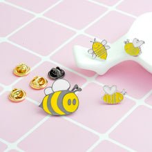 Load image into Gallery viewer, Hand Crafted Smiling Honey Bee Jacket/Bag Pins