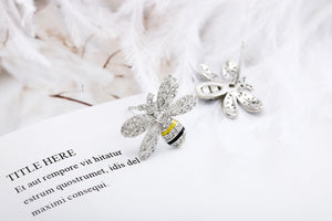 """Eternal"" Sterling Silver Rhinestone Stud Earrings"