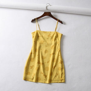 """Sunflower Power"" Mini Dress"