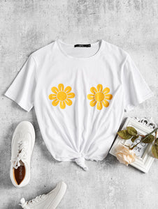 "Our Love Bee ""Burn the Bras/Flower Power"" Tee"