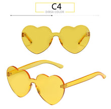 "Load image into Gallery viewer, ""BOYSEEN"" Rimless Heart Shape Sunglasses"