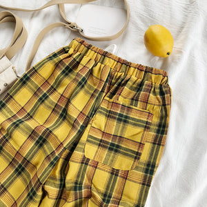 Our Drawstring Plaid Pants