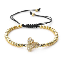 Load image into Gallery viewer, Black and Gold Beaded Bracelet