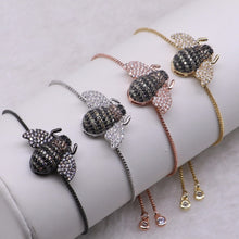 Load image into Gallery viewer, Bee Lovely Adjustable Bracelet