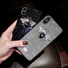 Load image into Gallery viewer, Stunning Glitter Love Bee Phone Case
