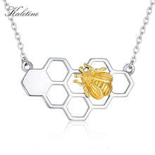 "Load image into Gallery viewer, ""KALETINE"" Honeycomb Love Bee Necklace"