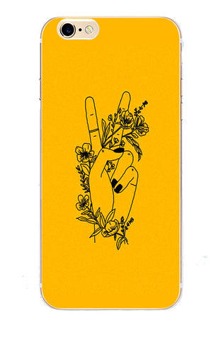 Love Bee Yellow Aesthetic Hard Cover Phone Cases