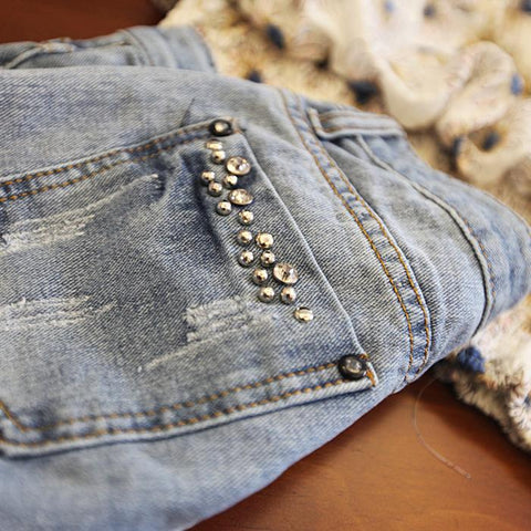 """Summer Love"" Beaded Denim Shorts"