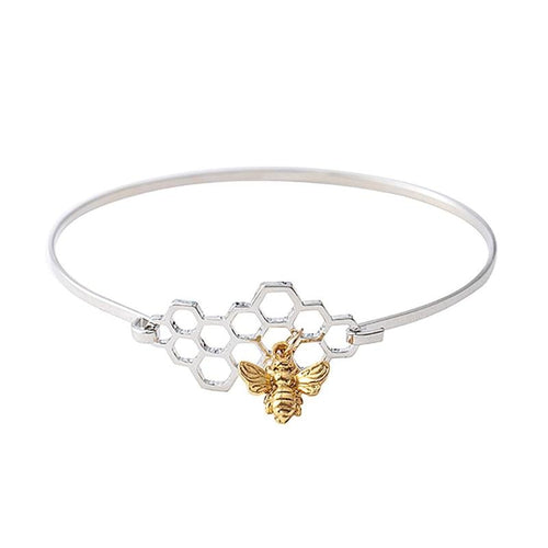 Beehive Honey Bee Bangle
