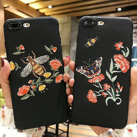 Our Love Bug Embroidered Phone Case