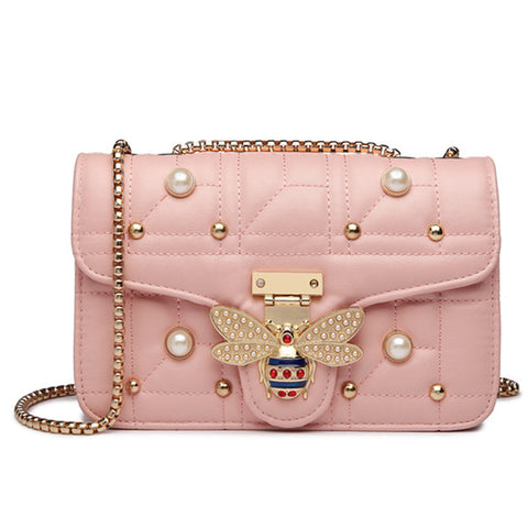 Pearl & Bee Buckle Shoulder Bag