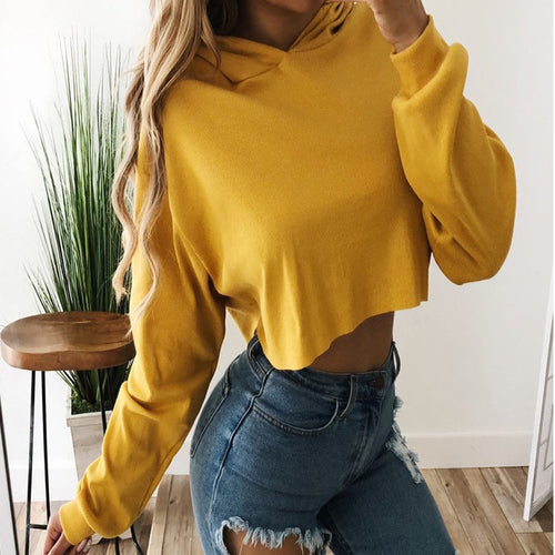Love Bee Loose Crop Hoodie