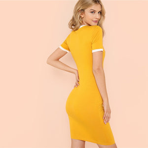 "Love Bee ""Ginger"" Jersey Dress"