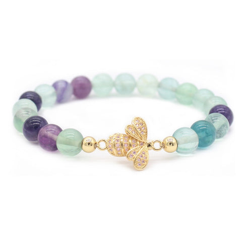 """Lovely"" Crystal Bee Bracelets"