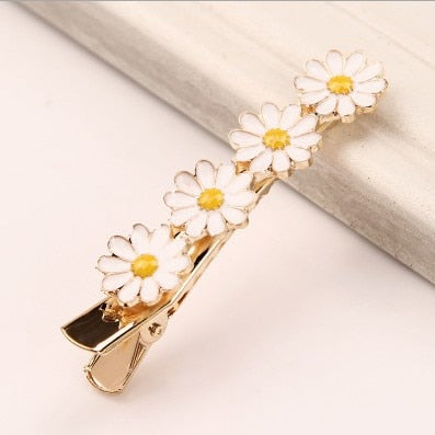 Hand Crafted Daisy Flower Hair Clips