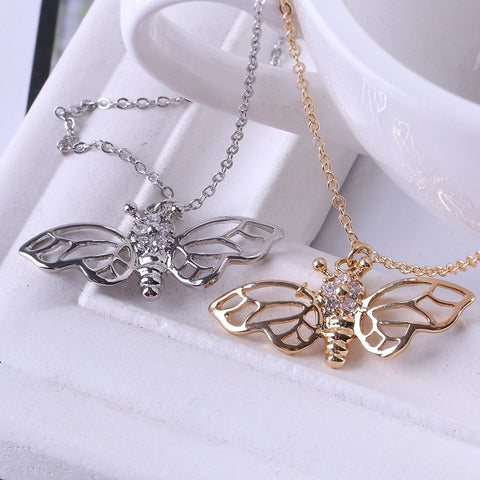 "Our Love Bee ""Long-Winged"" Necklace"