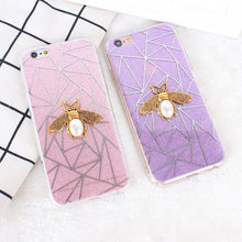 Load image into Gallery viewer, 3D Glitter Pastel Bee Phone Case