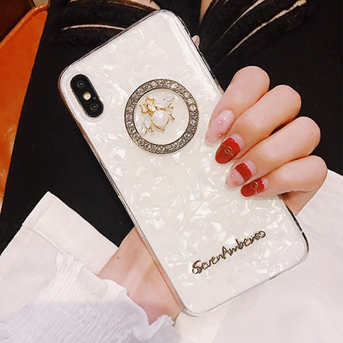 Crushed Pearl Love Bee Phone Case