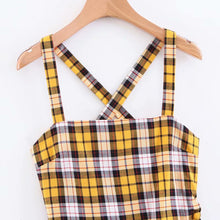 Load image into Gallery viewer, Love Bee Cross-back Plaid Dress