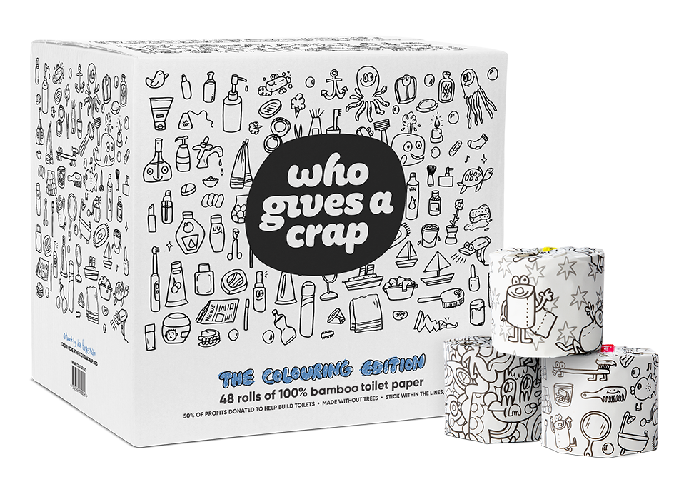 Colouring Edition Toilet Paper | Who Gives A Crap Australia