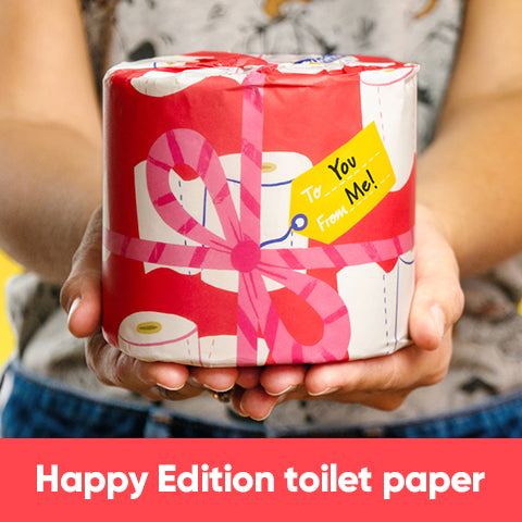 Subscriber extra box of Happy Edition Toilet Paper- one-time - RECYCLED