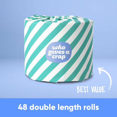 CF - 100% Recycled Toilet Paper - 48 Double Length Rolls - BEST VALUE!