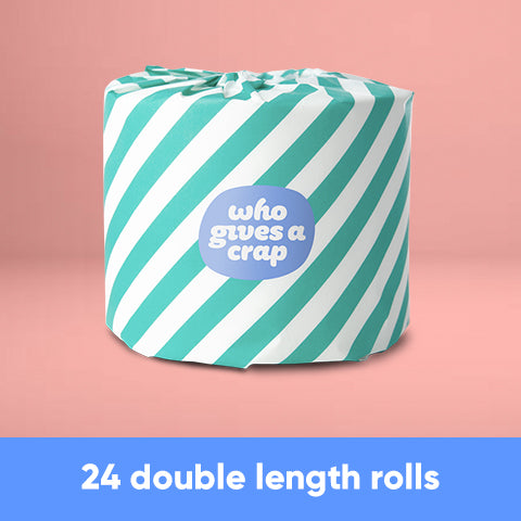 CF - 100% Recycled Toilet Paper - 24 Double Length Rolls
