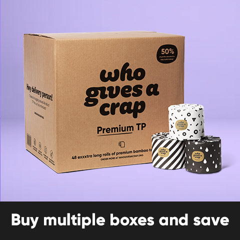 Buy Multiple Boxes and Save - Premium Bamboo Toilet Paper