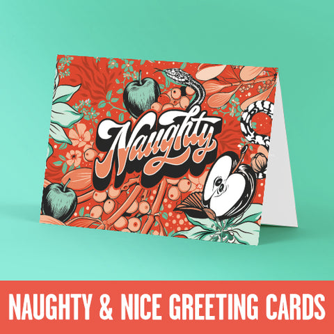 Naughty and Nice Greeting Cards