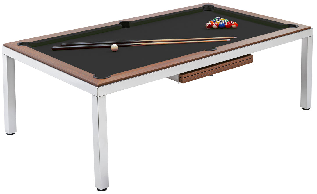 Cube 8ft Slate Bed Pool Dining Table - Prestige Tables