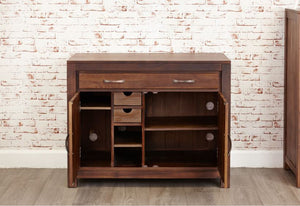 Baumhaus Mayan Walnut Hidden Home Office Desk - Prestige Tables
