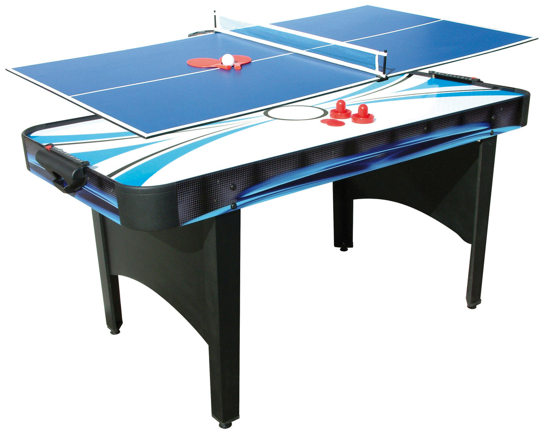 6ft TYPHOON 2-in-1 Air Hockey / Table Tennis Game - Prestige Tables
