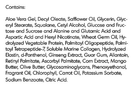 Collagen-Elastin Cream Ingredients