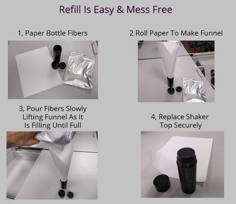 Refill your hair fibers cheap & mess free