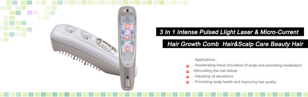 3in1 Laser LED Microcurrent Hair Growth Comb