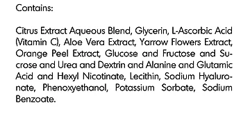 Vit C Ingredients