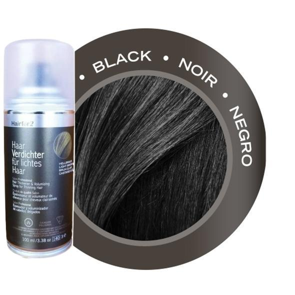 Black Hairfor2 Hair Loss Thickening Fiber Spray