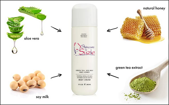 Green Tea, Soy Milk, and Honey Body Cream