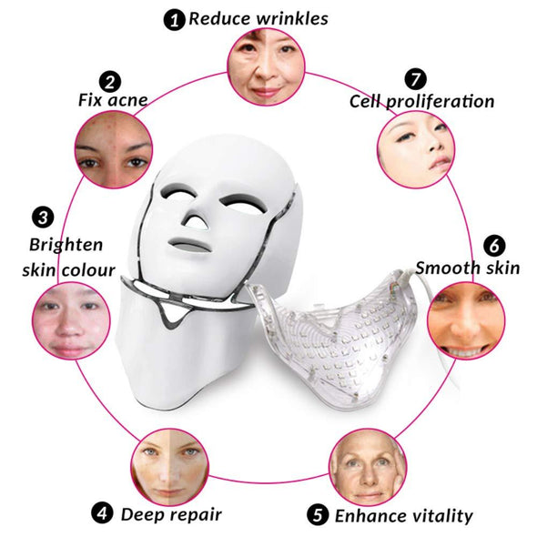 LED PHOTON THERAPY FACE & NECK MASK On Sale