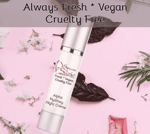 Vegan Alpha Hydroxy Night Crème - Cleanser -Skin Care By Suzie, free shipping & rewards