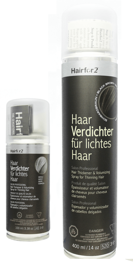 Hairfor2 Hair Loss Thickening Fiber Spray 3oz & 14oz