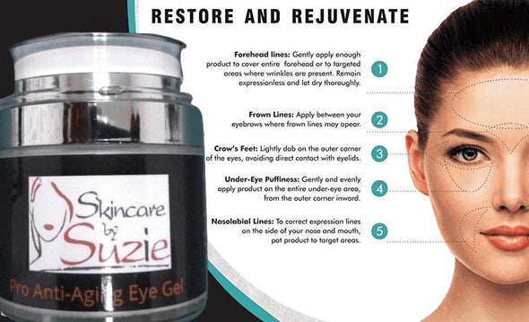 Pro Anti-Aging Eye Gel - Eye Cream -Skin Care By Suzie, free shipping & rewards