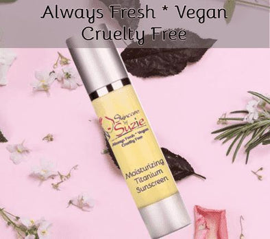 Vegan Moisturizing Titanium Sunscreen - Cleanser -Skin Care By Suzie, free shipping & rewards
