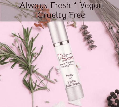 Vegan Jojoba Milk Wash - Cleanser -Skin Care By Suzie, free shipping & rewards
