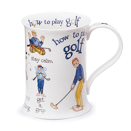 Dunoon Fine Bone China Golf Mug:  How to Play Golf